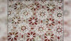 Мотив крючком. Скатерть из мотивов. Сrochet motif. Tablecloth motifs