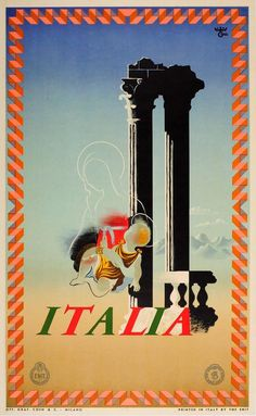 POSTER L/'AQUILA ABRUZZI FORTRESS KING EAGLE ITALY TRAVEL VINTAGE REPRO FREE S//H