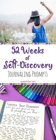 Weeks of Self-Discovery Prompts for Your Bullet Journal Make time in your Bullet Journal for self-discovery and unlock your potential.Make time in your Bullet Journal for self-discovery and unlock your potential. Bullet Journal Banners, How To Bullet Journal, My Journal, Journal Pages, Bullet Journals, Journal Ideas, Therapy Journal, August Journal Prompts, Bullet Journal Questions