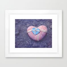my heart belongs to you Framed Art Print