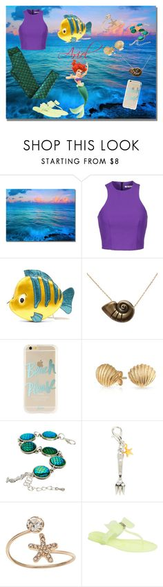 """Ariel"" by allyssister ❤ liked on Polyvore featuring T By Alexander Wang, Danielle Nicole, Disney, Sonix, Bling Jewelry, Bubbly Bows, LC Lauren Conrad, Wild Diva and modern"