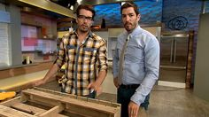 Making a wine rack from a pallet. Property Brothers. @MrSilverScott