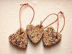 DIY Birdseed ornaments