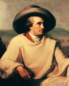 Johann Heinrich Wilhelm Tischbein - Johann Wolfgang von Goethe (1749-1832) in the Campagna, c.1790