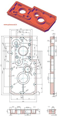 Piastra di supporto Autocad Isometric Drawing, Isometric Drawing Exercises, Sheet Metal Drawing, Sheet Metal Art, Mechanical Engineering Design, Mechanical Design, Solidworks Tutorial, Interesting Drawings, 3d Printer Designs