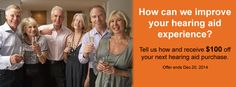 Tell us how we can improve your hearing aid experience. Hear Fine Ottawa Promotion. Offer ends Dec.20, 2014