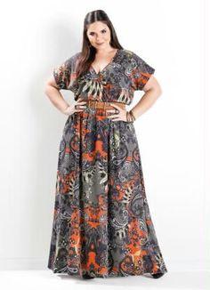 26744e1dca Vestido Longo Cashmere Plus Size - Marguerite