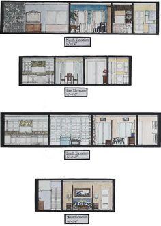 - by Rhianna Poer Interior Architecture Drawing, Interior Design Renderings, Architecture Concept Drawings, Interior Design Work, Interior Sketch, Architecture Plan, Minimal House Design, Architectural Floor Plans, Interior Design Presentation