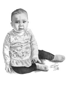 Drawing of a granddaughter as a present - Garry's Pencil Drawings Drawing Commissions, Pencil Portrait, Birthday Presents, Pencil Drawings, Charcoal, Birthday Gifts, Birthday Favors, Pencil Art