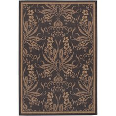 Recife Garden Cottage Black/ Cocoa Runner Rug (2'3 x 11'9) - Overstock™ Shopping - Great Deals on COURISTAN INC Runner Rugs
