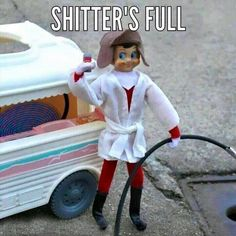 Oh, the silent majesty of a winter's morn; the clean, cool chill of the holiday air; and an asshole in his bathrobe, emptying a chemical toilet into the sewer...