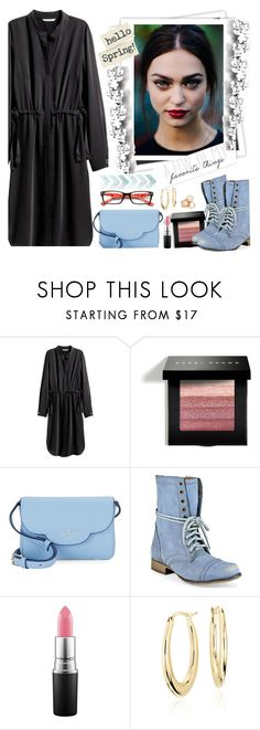 """""""My Outfit of the day"""" by fashionistlady ❤ liked on Polyvore featuring H&M, GALA, Bobbi Brown Cosmetics, Kate Spade, Steve Madden, Blue Nile, Roberto Coin and Élitis"""