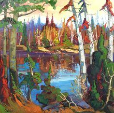 Landscape by Normand Boisvert Autumn, Fall, Quebec, Paintings, Artists, Landscape, Art, Painters, Normandie