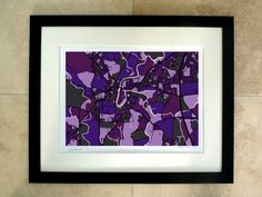 Durham UK Art Map Limited Edition by FirewaterGallery on Etsy