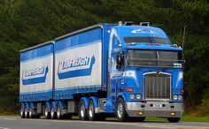 Kenworth, New Zealand. Classic Tractor, Classic Trucks, Classic Cars, Train Truck, Road Train, Show Trucks, Big Trucks, Australian Cars, Cab Over