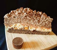 Peanut butter cups + peanut butter mousse + chocolate mousse + brownies