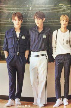 Jungkook, V and Jimin ❤ BTS 2017 Season's Greetings Jungkook Jimin, Bts Bangtan Boy, Bts Boys, Taehyung, Kenny Florian, Bts Maknae Line, Bts Lockscreen, Bts Group, Bts Official Light Stick