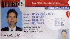 (FILE) Sample of an Illinois drivers license.