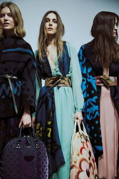 Painterly bags and massive toggle belts at Burberry Prorsum AW14 LFW. More images here: http://www.dazeddigital.com/fashion/article/18895/1/burberry-prorsum-aw14