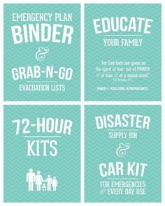 FREE PRINTABLES to create a Family Emergency Plan Binder by goosebird