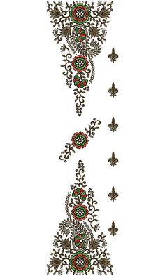 Dupatta Embroidery Design 13722