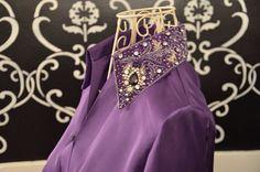 Purple Silk Kurta Kurti Pakistani Designer Indian medium large  on Etsy, $135.00