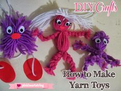 Make fun yarn toys for your kids! There are so many things you can make with yarn. But check out three ideas here.
