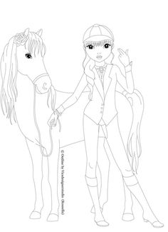 You can use my outline only with the font notation (c) design by me (c) pose/ model by TOPModel by Depesche Vertrieb GmbH &. rider with horse Horse Coloring Pages, Coloring Pages For Girls, Colouring Pages, Fashion Design Template, Fashion Design For Kids, Drawing Templates, Drawing Sketches, Mermaid Outline, Country Style Dresses