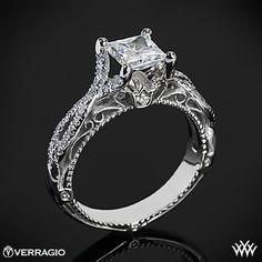 Verragio Pave Twist Diamond Engagement Ring | 1887