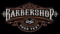 Barbershop logo . vintage lettering illu... | Premium Vector #Freepik #vector #logo #vintage #label #gold Logo Design, Graphic Design Software, Wall Design, Barber Logo, Barber Shop, Vintage Interior Design, Vintage Design, Shop Logo, Rotulação Vintage