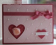 Faux Quilted Valentine by amyk3868 - Cards and Paper Crafts at Splitcoaststampers
