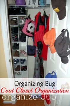 Is your coat closet out of control? Here's a couple of tips to help you organize it! | Organize 365