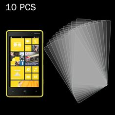 [$5.21] 10 PCS 0.26mm 9H+ Surface Hardness 2.5D Explosion-proof Tempered Glass Film for Nokia Lumia 820