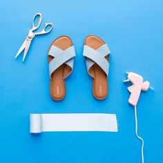 Step Up Your #Shoefie Game With These 4 Sandal DIY Hacks via Brit + Co