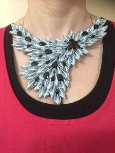 náhrdelník zo saténovej stuhy Crochet Necklace, Handmade, Jewelry, Fashion, Moda, Hand Made, Jewlery, Jewerly, Fashion Styles