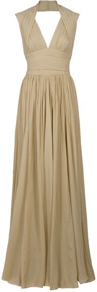 Halterneck Pleat Gown - Lyst