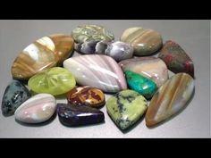 How to Cut and Polish Semi Precious Gemstone - Ribbonstone | Liz Kreate - YouTube