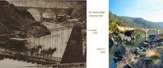No Hands Bridge then 1912 now 2004