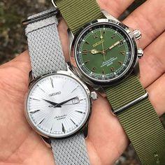 The Dynamic Duo #seiko #seikowatch #seikowatches #seikoholic #seikoalpinist #coctailtime #SARB017 #SARB065 #seikowatchusa #seikodiver #prospex #sgwfshootout #watch #watches #watchfam #horophile #watchfamasia #dailywatch #watchaddict #watchgeek #watchn