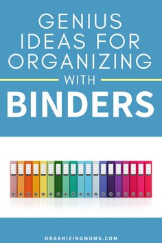 How to organize your paperwork with binders. A great way to have everything easily accessible. Set up your own binder organization system today. #organizingmoms Binder Organization, Organizing, Getting Rid Of Clutter, Organized Mom, Organize Your Life, Decluttering, Stress Free, Learning, Tips