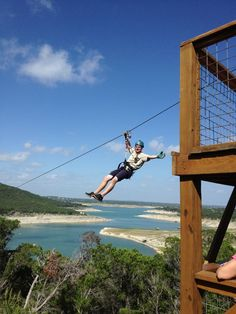 This Austin Outdoor Zipline Adventure has 5 zip lines ranging from 250 feet to the longest zipline in Texas - over 2000 feet. While waiting between each zip, you will enjoy amazing views of Lake Travis and the Texas Hill Country. Your professionally trained tour guides offer education and fun throughout your challenging hikes and nature walks. For the grand finale, imagine launching off a cliff 20 stories high and zipping over 2000 feet across beautiful Lake Travis.