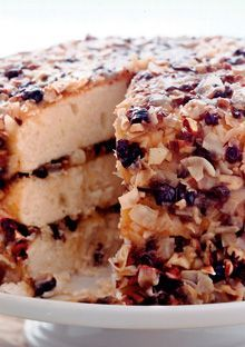 Lane Cake is a traditional Southern holiday classic-white cake with lavish amounts of rich frosting made with pecans and fresh coconut.Plus recipe for homemade baking powder. Just Desserts, Delicious Desserts, Lane Cake, Cake Recipes, Dessert Recipes, Piece Of Cakes, Savoury Cake, Let Them Eat Cake, Yummy Cakes