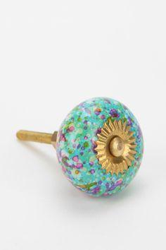 Glass Confetti Knob for dresser!!