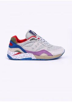 Saucony x Bodega G9 Shadow 6 'Pattern Recognition' Trainers - Grey / Purple