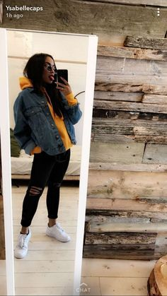 (notitle) Style in 2020 Tomboy Outfits, Chill Outfits, Cute Comfy Outfits, Winter Fashion Outfits, Trendy Outfits, Jean Jacket Outfits, Trendy Hoodies, Hoodie Outfit, Mode Hijab