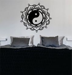 Mandala Yin Yang The latest in home decorating. Beautiful wall vinyl decals, that are simple to apply, are a great accent piece for any room, come in an array of colors, and are a cheap alternative to