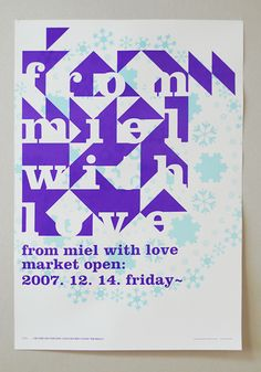 posters for 'From Miel with Love', an event of cafe Miel - Jaemin Lee