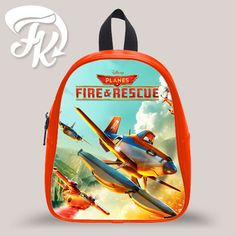 Planes Fire Rescue Kid School Bag Backpacks for Child