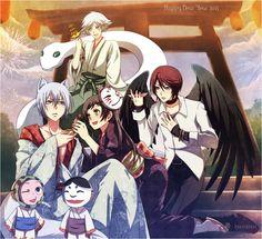 Mizuki, Tomoe, Nanami, Kurama, Kotetsu & Onikiri
