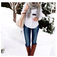 Love this winter look